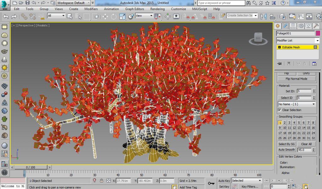 آموزش ساخت متریال برگ در تری دی مکس