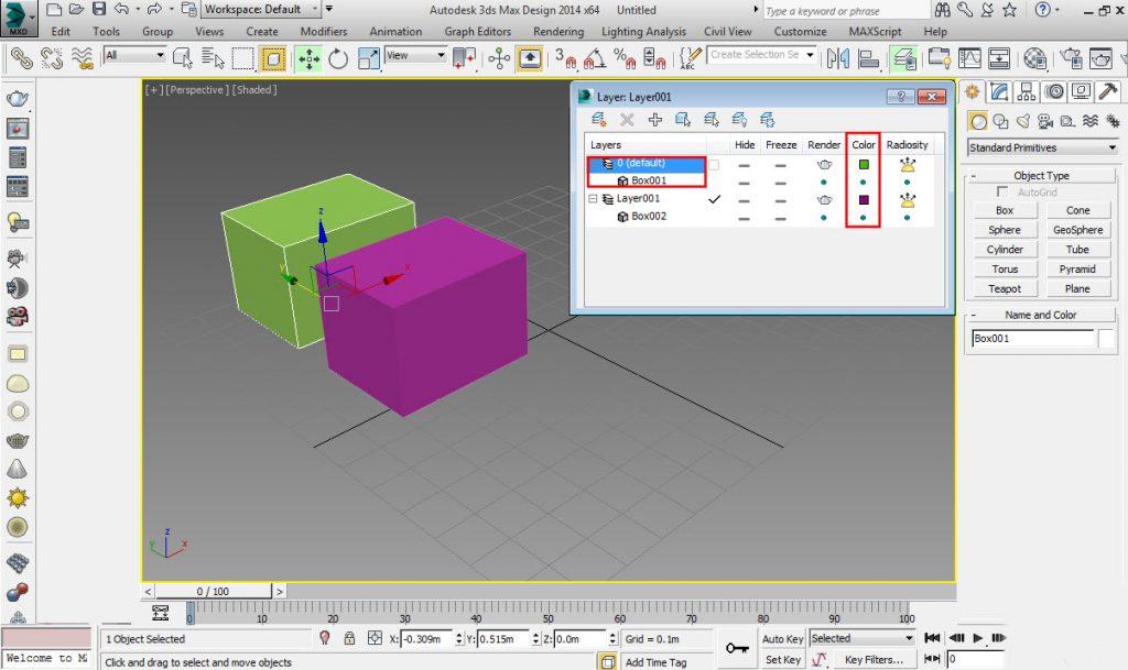 آموزش لایه بندی در 3D Max
