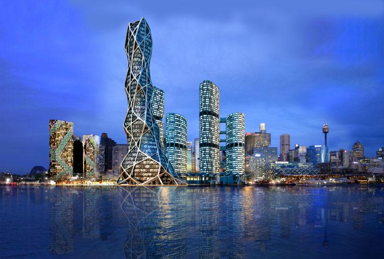 برج bionic tower در شانگهای چین