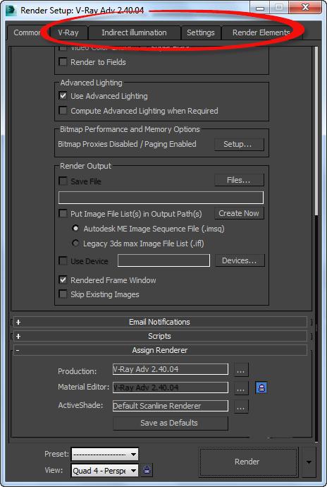 فعال کردن vray برای رندر گرفتن در 3d max