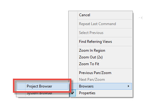 نا پدید شدن پنجره Propertires و Projectbrowser در رویت