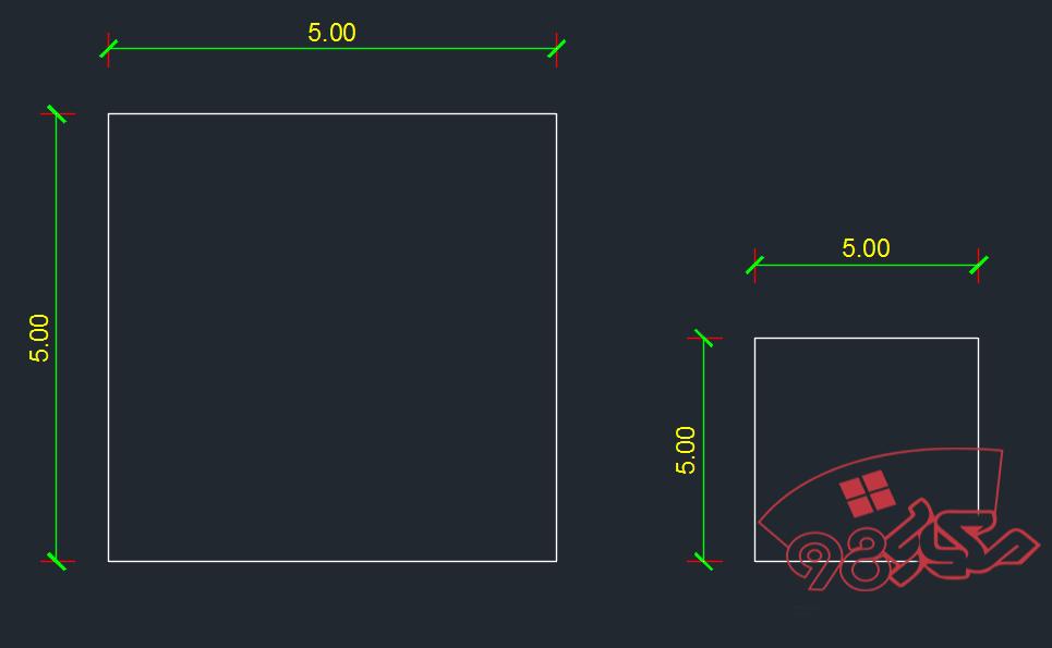 آموزش اندازه گذاری با چند مقیاس در اتوکد