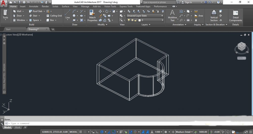 ساخت دیوار سه بعدی در اتوکد