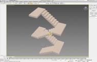 مدل سازی سه بعدی پله در تری دی مکس