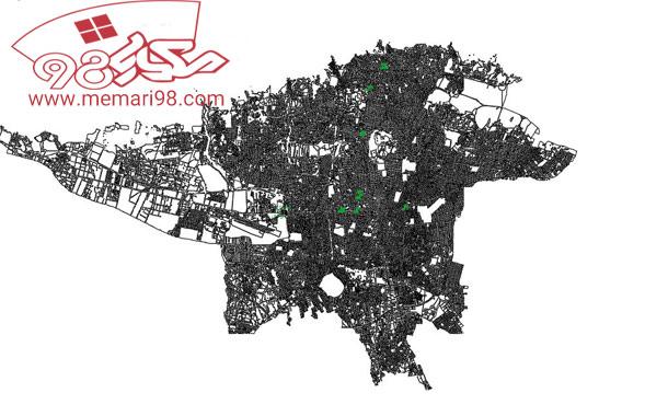 دانلود رایگان نقشه اتوکدی تمامی منطقه های تهران و تبریز