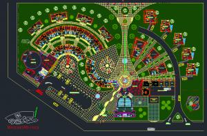 رساله مجتمع تفریحی توریستی به همراه نقشه معماری