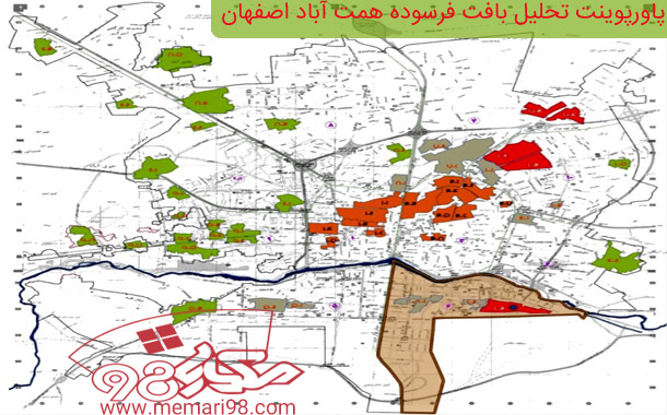 پاورپوینت تحلیل بافت فرسوده همت آباد اصفهان