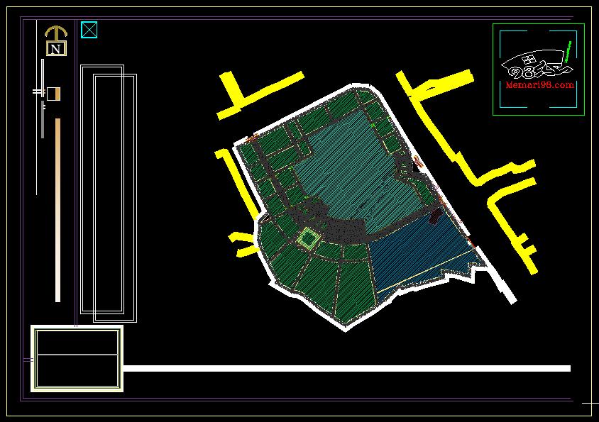پروژه مجتمع آب درمانی ( نقشه اتوکدی - سه بعدی - رندر )
