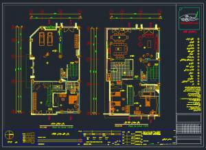 نقشه مسکونی ویلایی 4 طبقه فاز 2
