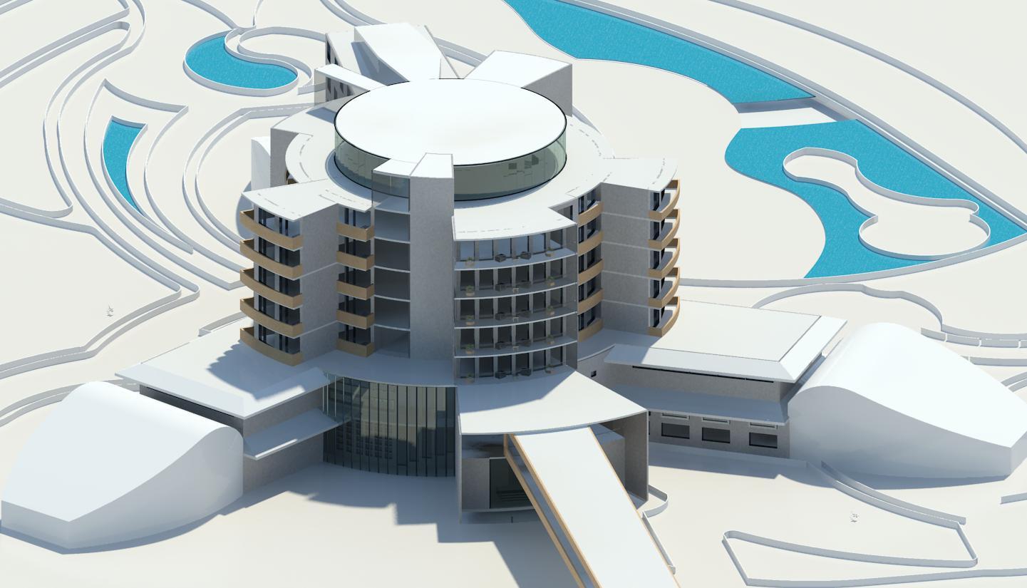 پلان کامل هتل با جزئیات