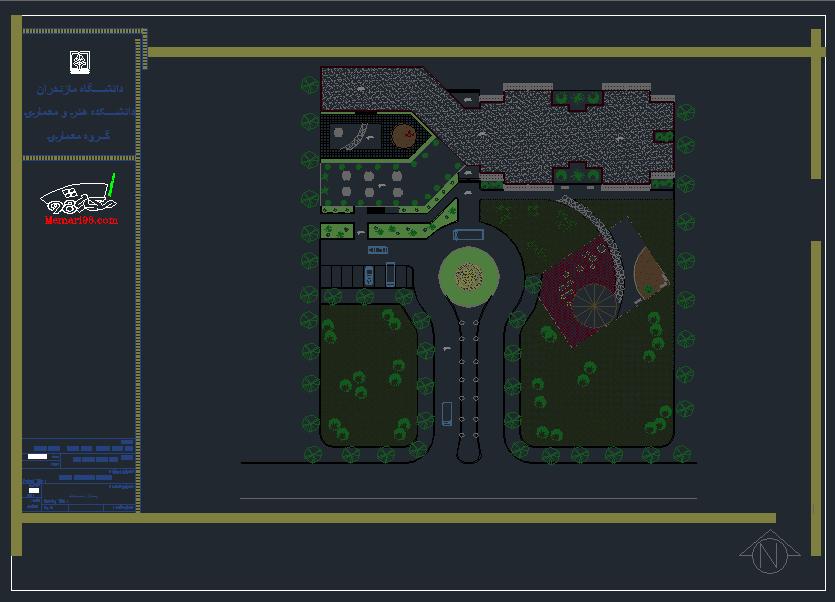 نقشه اتوکدی خوابگاه دانشجویی