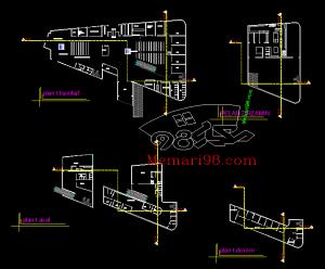 ایستگاه راه آهن ( نقشه - شیت بندی - سه بعدی )