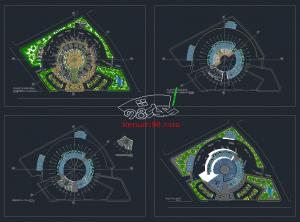 نقشه ترمینال مسافربری همراه با سه بعدی