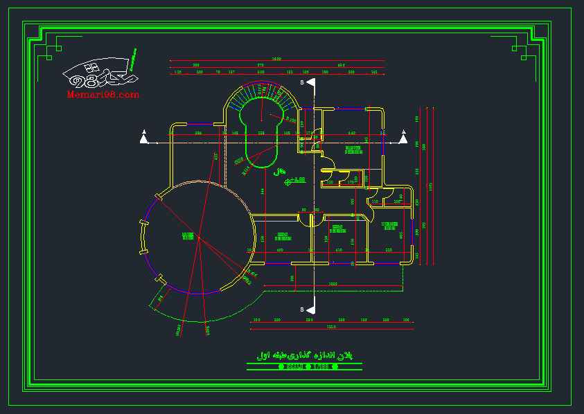 پلان ویلایی دو طبقه زیبا
