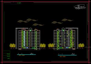دانلود رایگان پروژه مجتمع مسکونی ( اتوکد - سه بعدی )