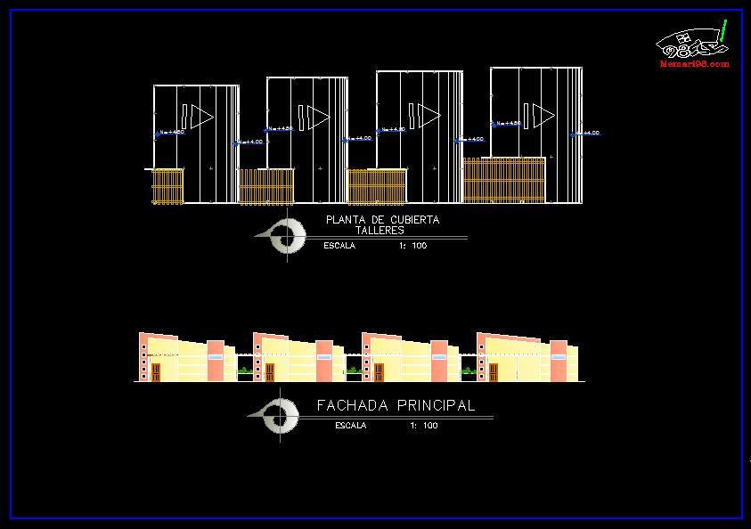 پلان مرکز فرهنگی ( اتوکد - تری دی مکس - رندر )