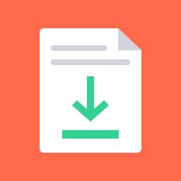 document-download-flat