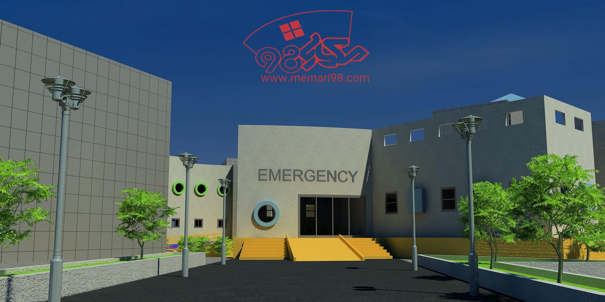 رساله بیمارستان کودکان ( اتوکد - رندر - رساله - پوستر - تحلیل )