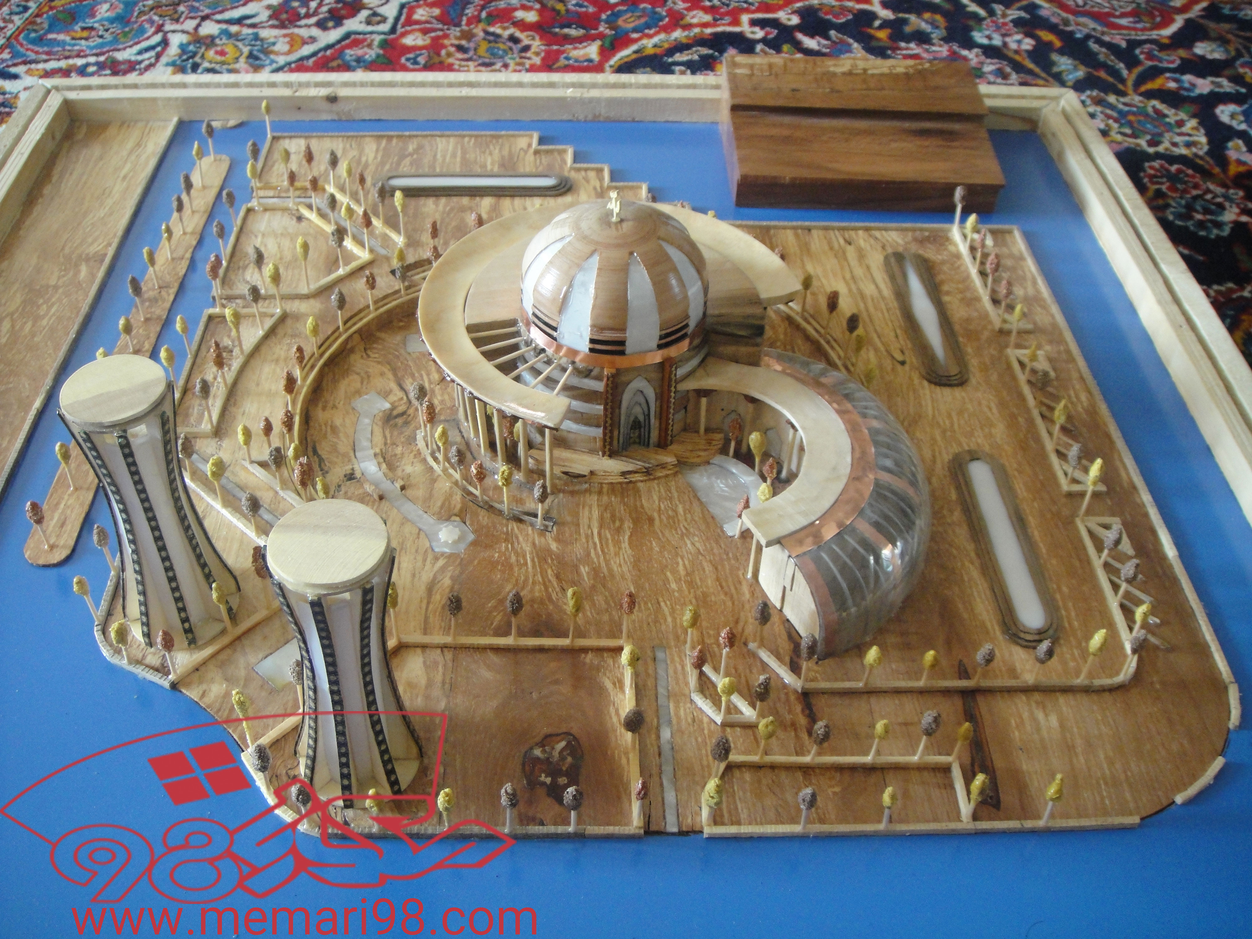 رساله مسجد (رساله -اتوکد-سه بعدی-رندر-پوستر-اتود اولیه-آنالیز-ماکت-vip-ppt )