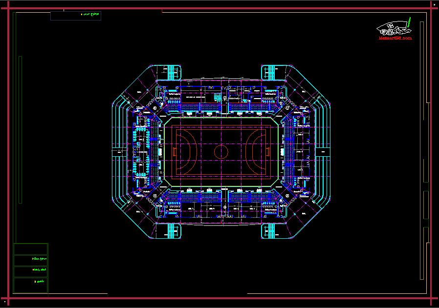 نقشه کامل استادیوم ورزشی