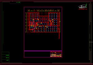 نقشه کامل برق ساختمان 5 طبقه