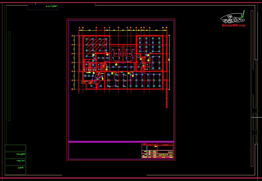 نقشه کامل برق ساختمان 5 طبقه (1)
