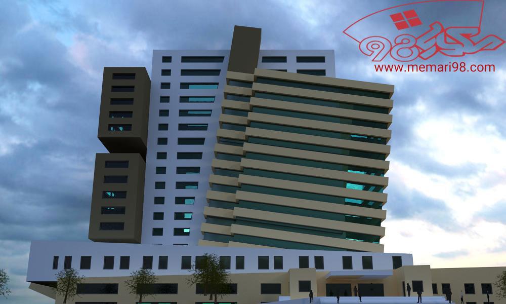 هتل 17 طبقه ( اتوکد - رندر - psd - شیت بندی )