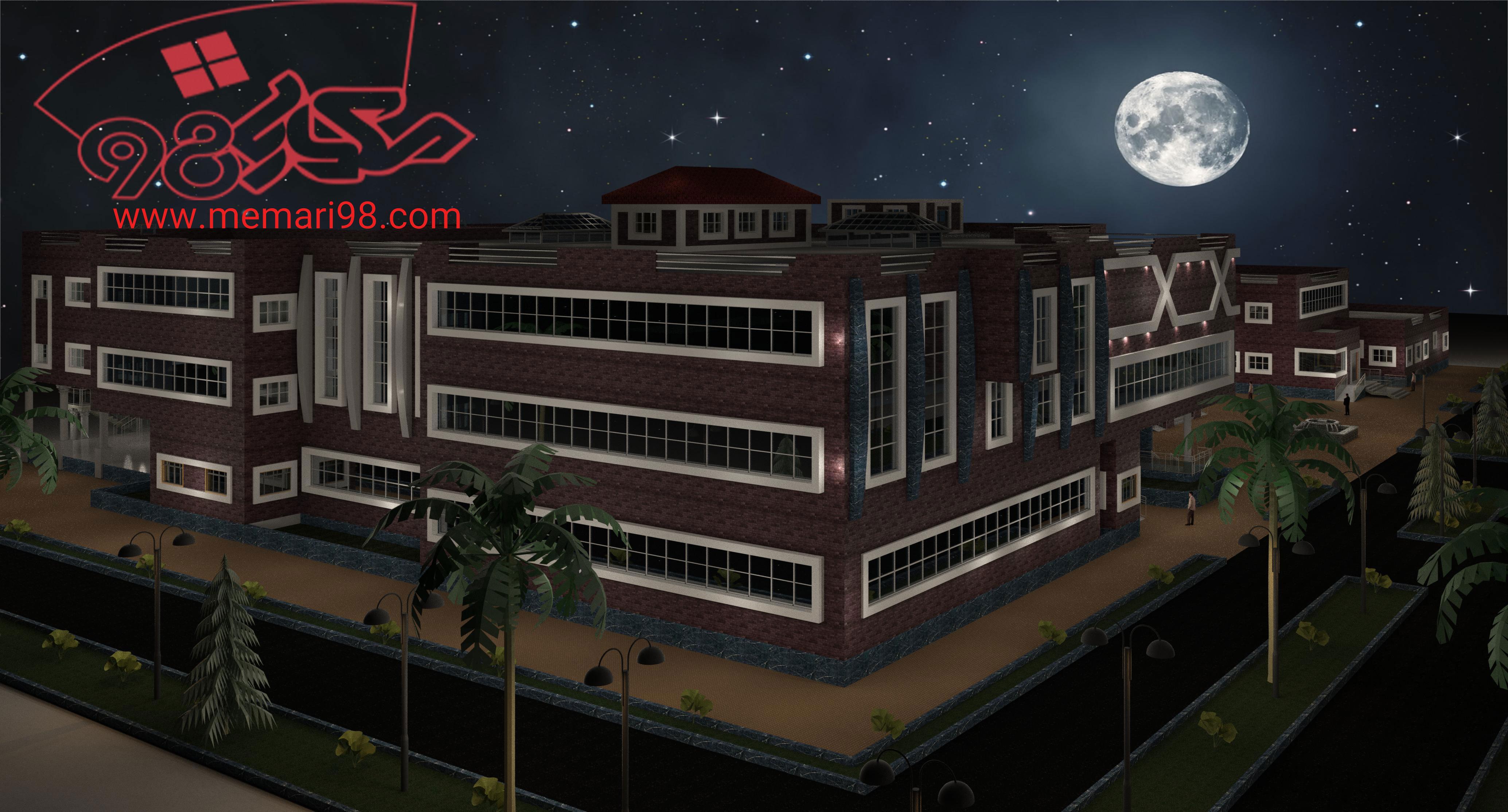 پروژه کامل بیمارستان ( اتوکد - تری دی - رویت - psd - شیت بندی )