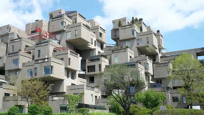 معماری مجتمع مسکونی هبیتات 67