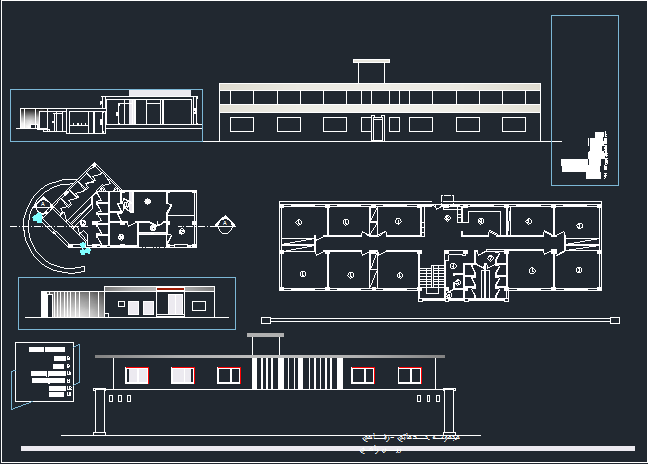 رساله و مطالعات اقامتگاه بین راهی با نقشه ها