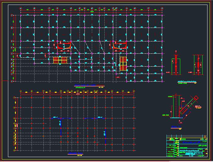 مجموعه دتایل ساختمان های فلزی 1 تا 19 طبقه