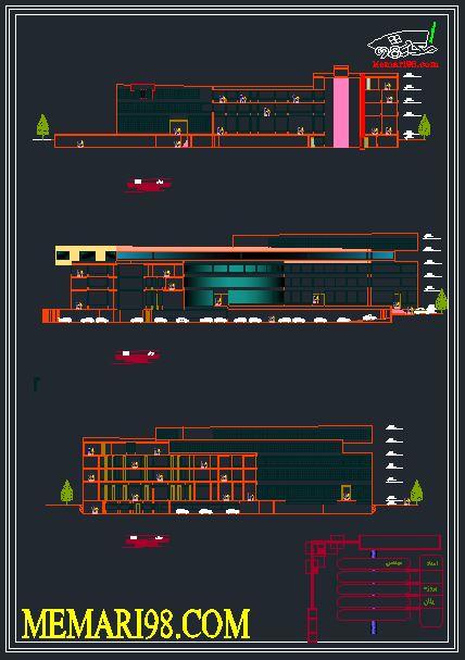 نقشه مجتمع تجاری ( اتوکد - رندر - تری دی مکس - psd - پوستر )