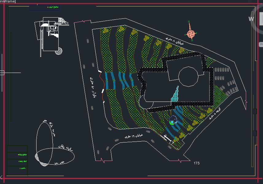 پروژه پارک و مدرسه هنر ( اتوکد - تری دی مکس - psd - رندر - پوستر )