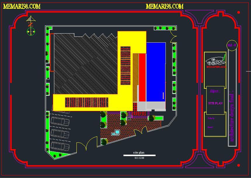 پروژه کامل ساختمان نظام مهندسی ( اتوکد - تری دی مکس - رندر - شیت بندی - psd )