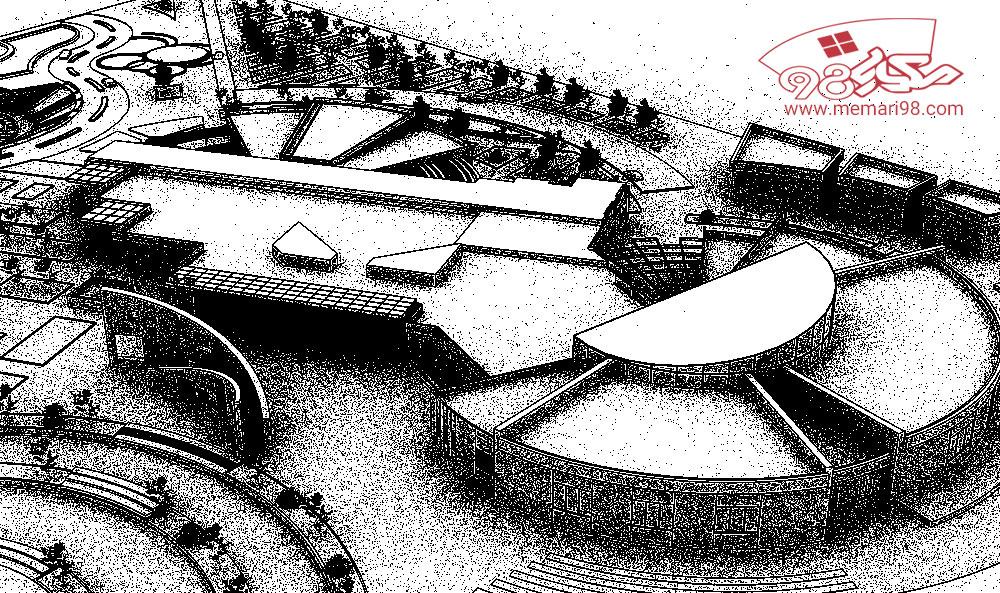 پلان مرکز حفظ آثار ملی ( اتوکد - پاورپوینت - پوستر - psd - رندر - اتود اولیه ) (2)