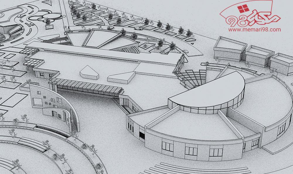 پلان مرکز حفظ آثار ملی ( اتوکد - پاورپوینت - پوستر - psd - رندر - اتود اولیه )