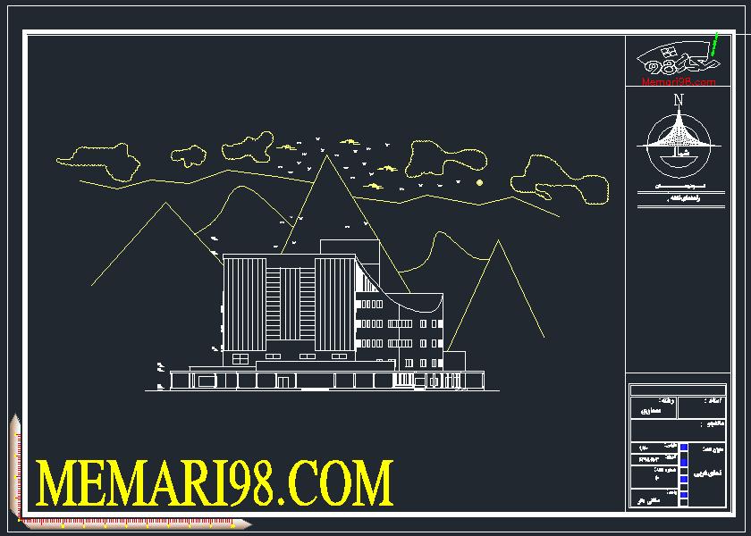 پلان هتل 5 ستاره ( رندر - اتوکد - شیت بندی - psd )