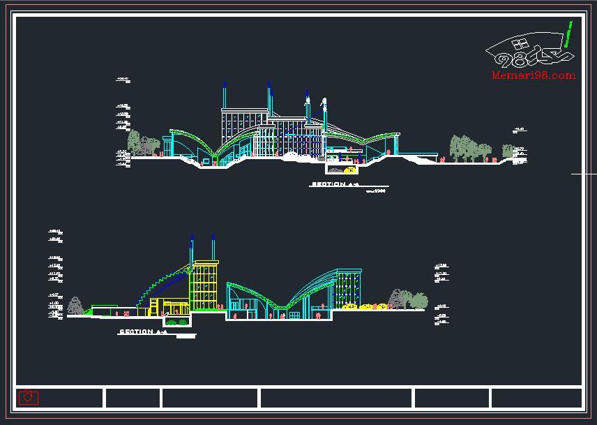 پلان کامل نمایشگاه اتومبیل