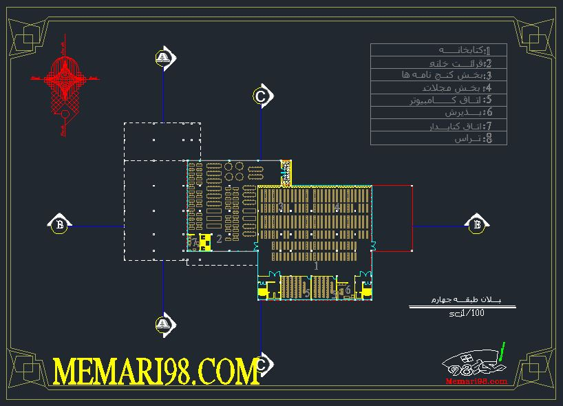 نقشه دانشگاه ( اتوکد - رندر - تری دی مکس - psd - پوستر )