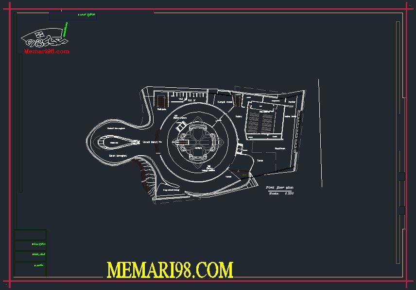 نقشه موزه ( رندر - psd - پوستر - اتوکد )