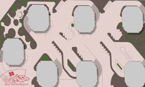 پلان مجتمع مسکونی ( رندر - اتوکد - psd - پوستر )