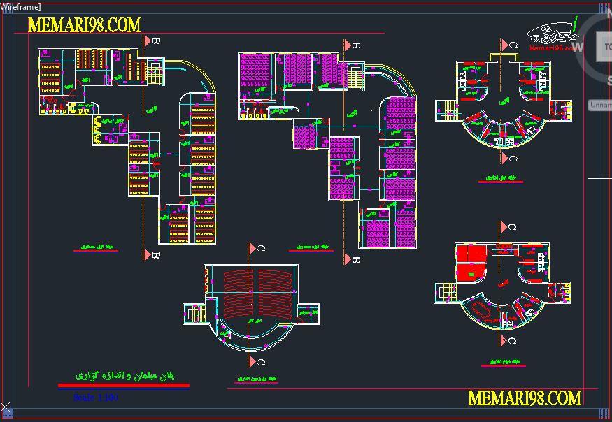 پلان مدرسه معماری ( اتوکد - پوستر - psd - رندر )