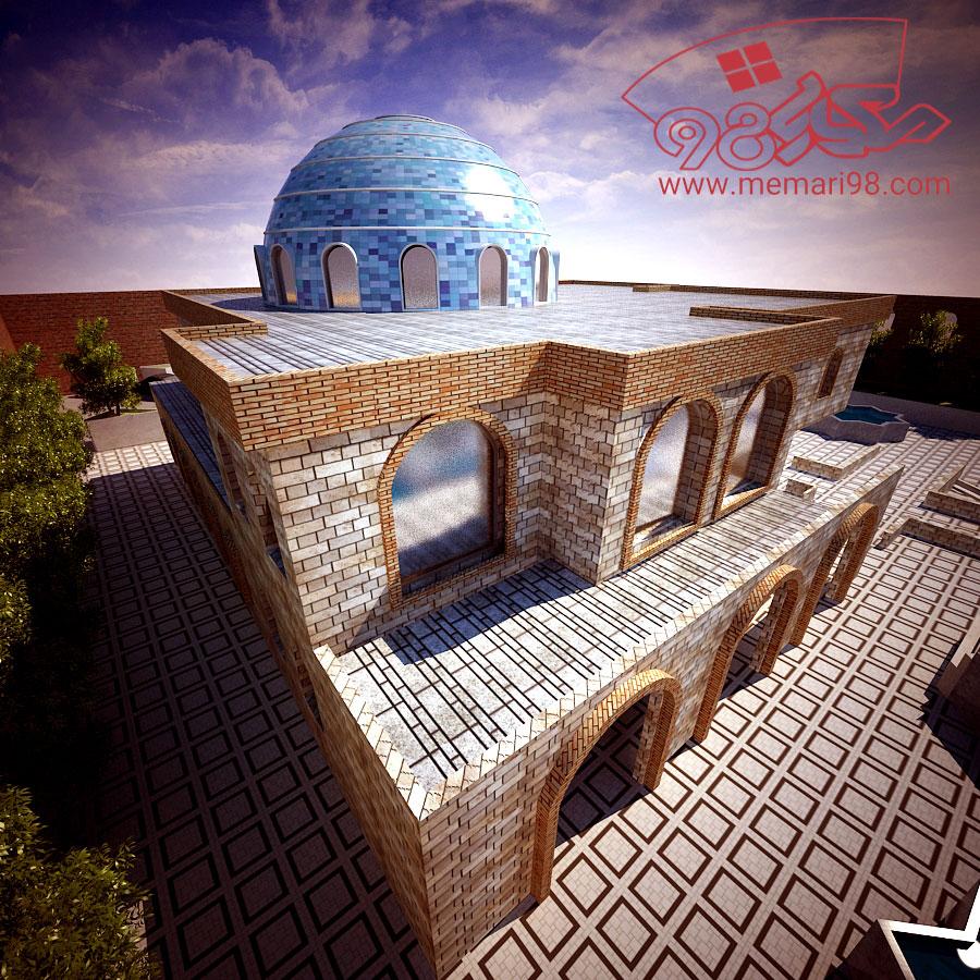 پلان مسجد ( رندر - اتوکد - تری دی مکس - psd - پوستر )