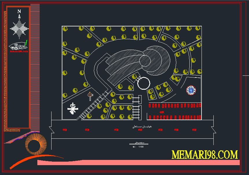 پلان موزه ( اتوکد - رندر - psd - پوستر )