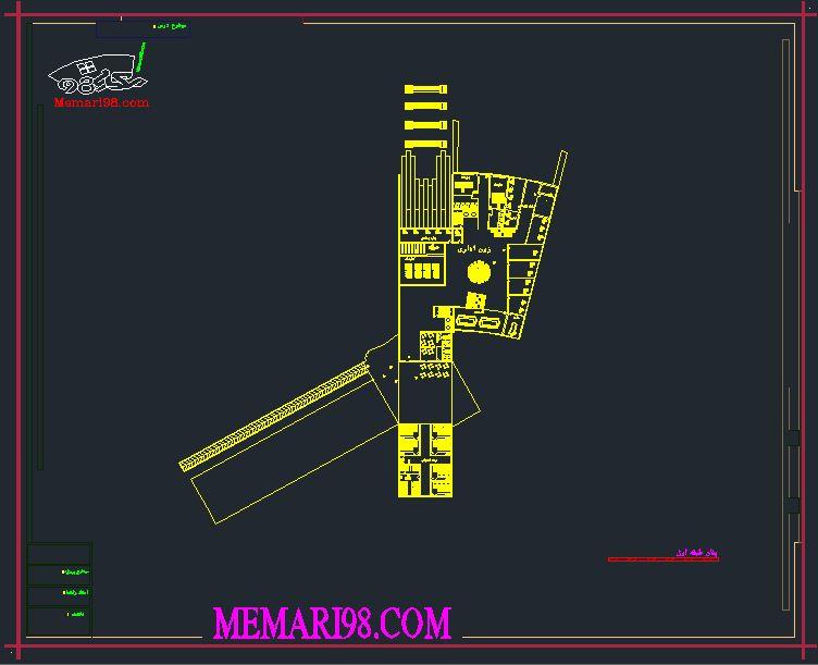 پلان موزه هنر ( اتوکد - پوستر - psd - رندر ) (1)