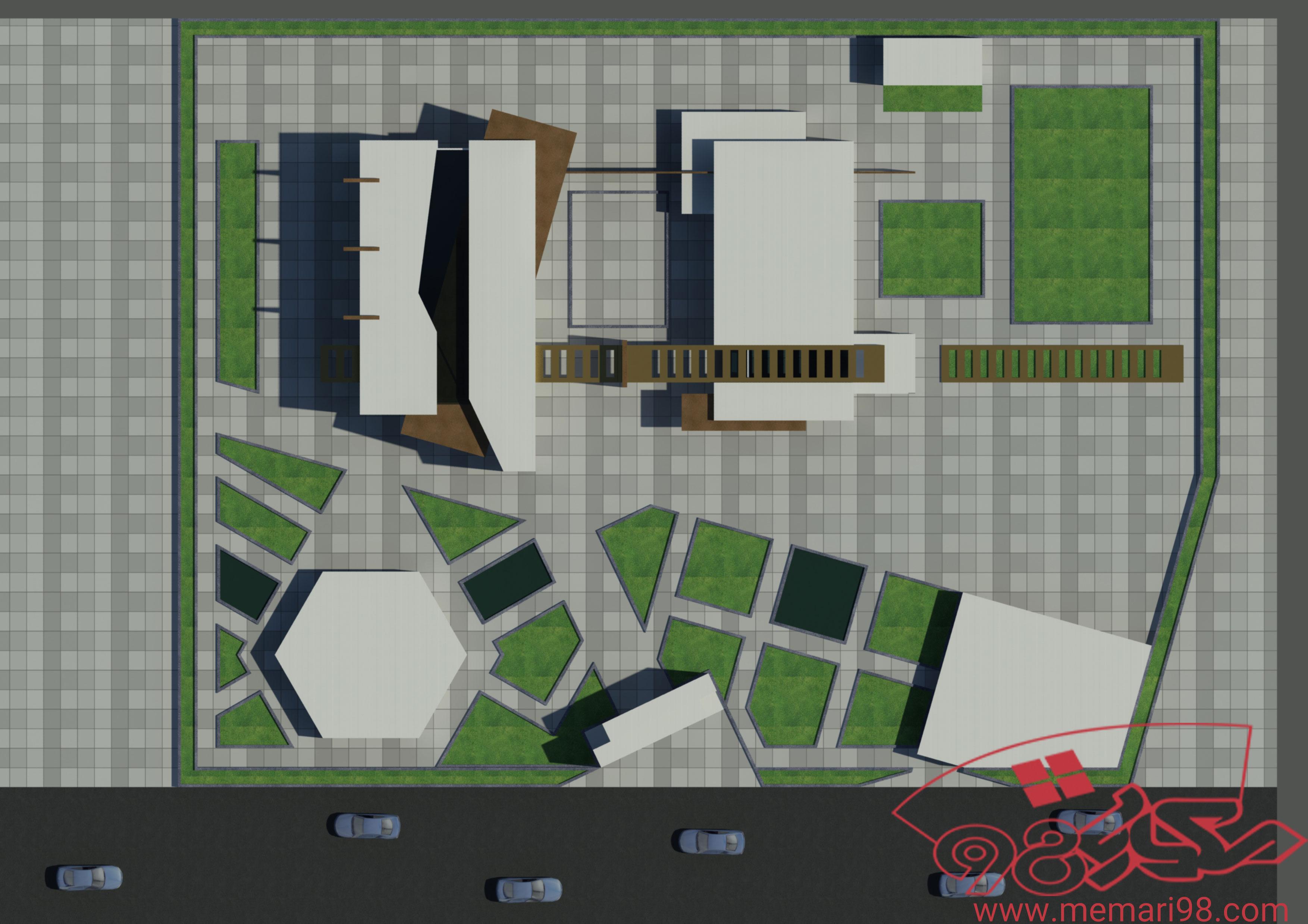 پلان هنرستان ( اتوکد - تری دی مکس - پوستر - psd - رندر )