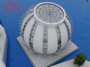 پلان کامل موزه ( پوستر - اتوکد - رندر - psd - تری دی مکس )