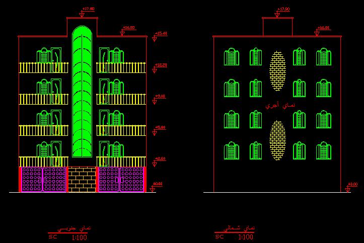 دانلود رایگان 4 پلان ساختمان دو خوابه و سه خوابه