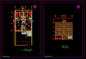 مجموعه 3 پلان آپارتمان 8 واحدی