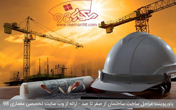 پاورپوینت تمامی مراحل ساخت ساختمان ( صفر تا صد )